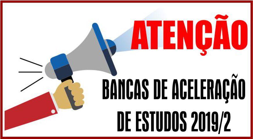 Bancas de aceleração de estudos 2019/2